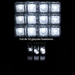 12 Glaçons Lumineux LED Blancs