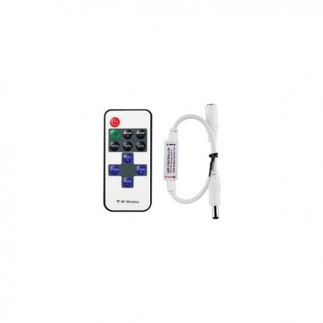Contrôleur avec télécommande pour ruban LED 5050 ou 3528 mono couleur