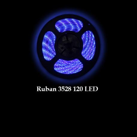 Ruban LED 3528 / 120 LED mètre bleu pour intérieur (IP65)