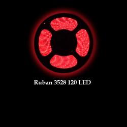 Ruban LED 3528 / 120 LED mètre rouge pour intérieur (IP65)
