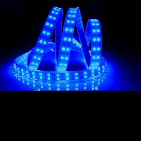 Ruban LED 5050 / 120 LED mètre bleu étanche (IP68)