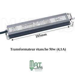 Transformateur étanche 12V/50 Watt