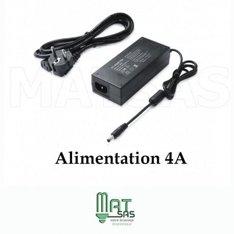 Transformateur 12V / 4 A avec cable