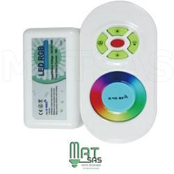 Contrôleur avec télécommande pour ruban LED couleur RGB 5050 OU 3528