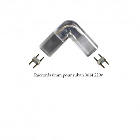 Adaptateur d'angle en L 6mm pour ruban LED 3014 (25 ou 50 mètres)