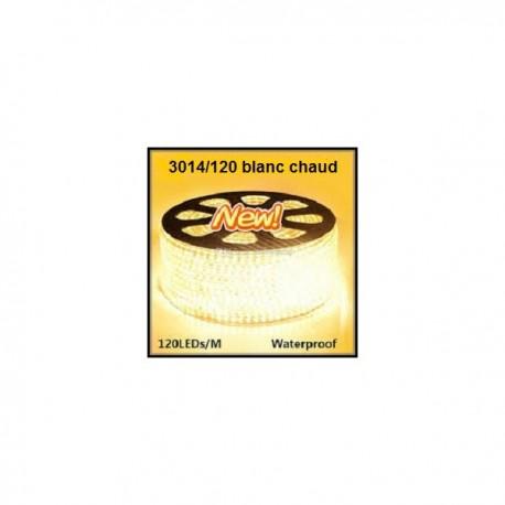 Strip LED EPISTAR 3014/120 en 25 ou 50 mètres blanc chaud étanche (IP68)
