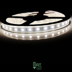 Ruban LED 5050 / 60 LED mètre blanc neutre étanche (IP68)