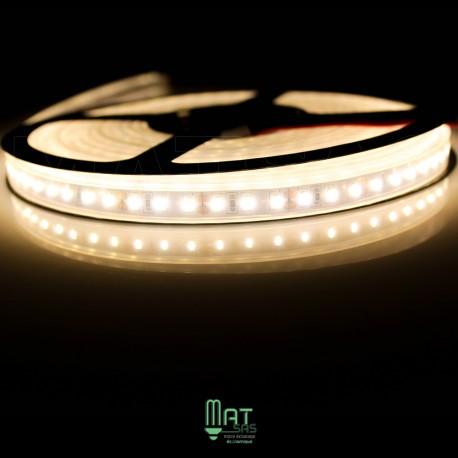 Ruban LED 3014 / 120 LED mètre blanc chaud étanche (IP68)