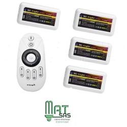Kit de 4 controleurs Mono couleur avec sa Télécommande Radio