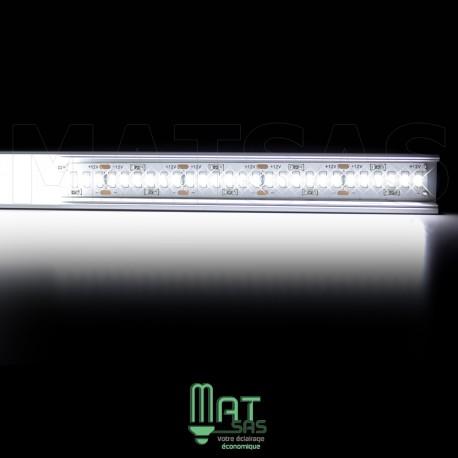 Kit ruban LED 3014/244 blanc froid 30w mètre avec profilé aluminium