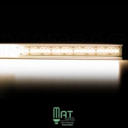 Kit ruban LED 3014/244 blanc chaud 30w mètre avec profilé aluminium et alimentation métal box