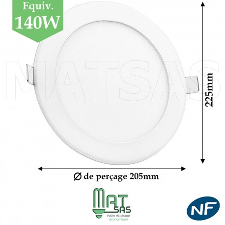Downlight LED 18W extrat plat blanc neutre ou froid