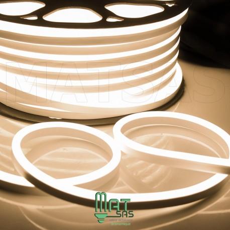 Strip LED néon flexible  Professionnel EPISTAR 2835 120 LED/m de 50 mètres blanc Chaud étanche (IP68)