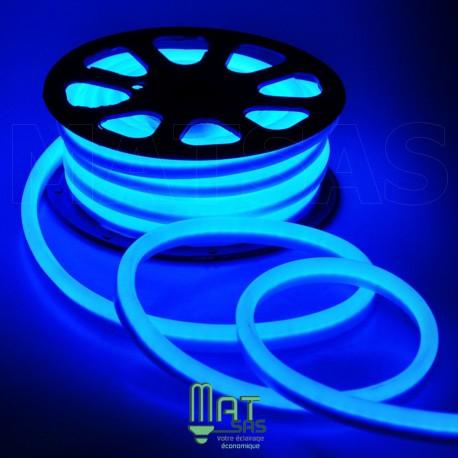 Strip LED néon flexible  Professionnel EPISTAR 2835 120 LED/m de 50 mètres bleu étanche (IP68)