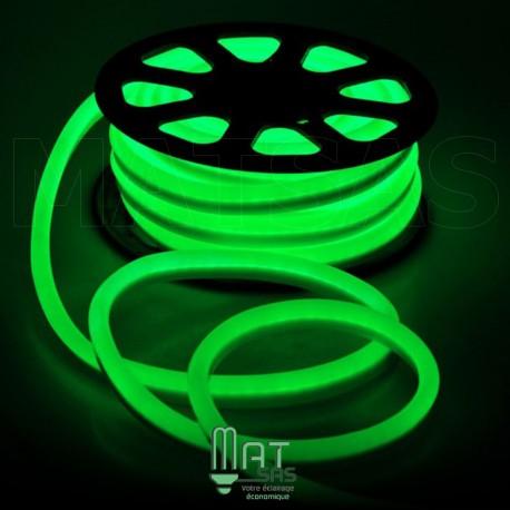 Strip LED néon flexible  Professionnel EPISTAR 2835 120 LED/m de 50 mètres vert étanche (IP68)