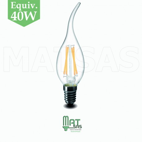 Ampoule 5w flamme led e14 blanc neutre ou chaud