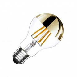 Ampoule E27 LED Dimmable Filament Gold 6W blanc chaud