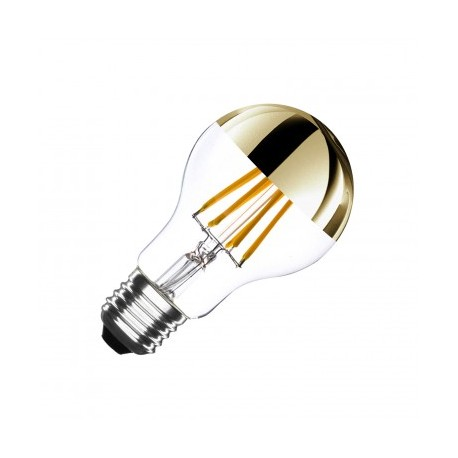Ampoule E27 LED Dimmable Filament Gold 6W blanc chaud