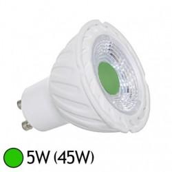 Ampoule LED GU10 couleur verte 5W