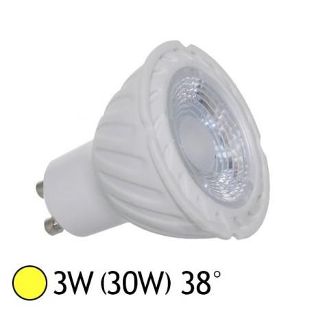 Ampoule GU10 LED 3W angle 38°