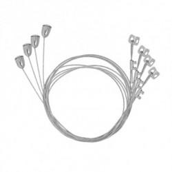 Kit de 4 suspensions de sécurité pour dalle LED