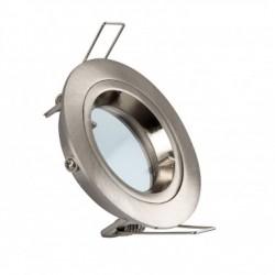 Support rond kart de tour métal brosser