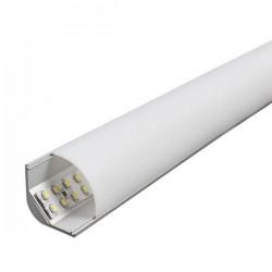 Profilé aluminium d'angle 2 Mètres avec diffuseur opaque