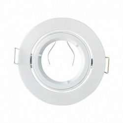 Support encastrable rond kart de tour blanc Dimensions de coupe: Ø80