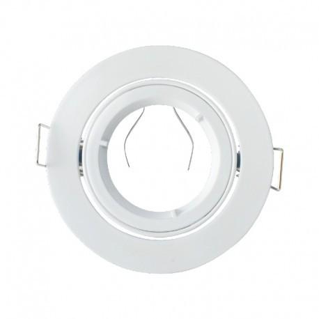 Support encastrable rond kart de tour blanc Dimensions de coupe: Ø80