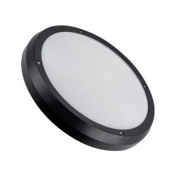 Plafonnier rond noir très décoratif IP65
