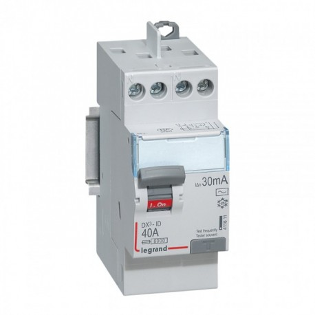 Interrupteurs différentiels Legrand DX3 id 2p 230v 40A type AC 30ma