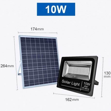 Projecteur LED Solaire Blanc Froid de 10W,25W,40W,60W,100W ou 200W étanche (IP65)