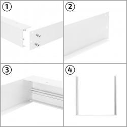 Cadre blanc pour dalle LED 600 X 1200 mm