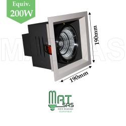 Projecteur encastrable 1 X 30W orientable blanc neutre
