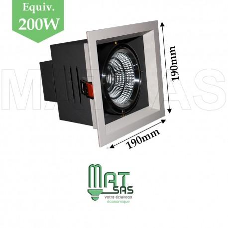 Projecteur encastrable 1 X 25W orientable blanc neutre