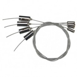 Lot de 4 cables pour suspendre dalle LED