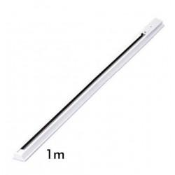Rail Monophasé pour Spots LED longueur 1 Mètre Blanc