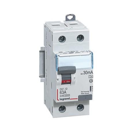 Interrupteurs différentiels Legrand DX3 id 2p 230v 63A type A 30ma