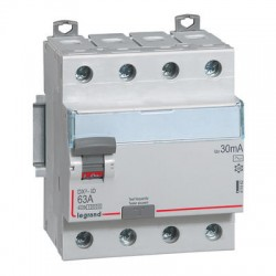 Interrupteurs différentiels Legrand DX3 id 4p 400v 63A type AC 30ma