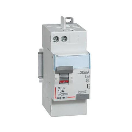 Interrupteurs différentiels Legrand DX3 id 2p 230v 40A type AC 30ma arrivée vis sortie automatique