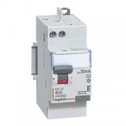 Interrupteurs différentiels Legrand DX3 id  2p  230v 40A  type A  30ma arrivée vis sortie automatique