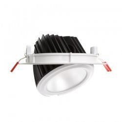 Projecteur LED 60W SMD Samsung 120lm/W Rond Orientable blanc