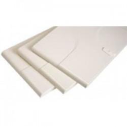 Porte blanche pour coffret 13 modules 3 rangées Général électric