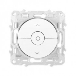 Interrupteur volet-roulant Blanc 3 boutons montée/ descente/ stop Schneider