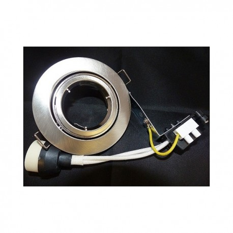 Support encastrable pour LED GU10 (220v) blanc ou métal brossé