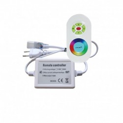 Controleur avec télécommande radio pour ruban LED RGB (multi couleur) 220V