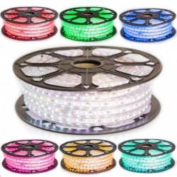 Kit strip LED 5050 Professionnel 25 ou 50 Mètres RGB Étanche (IP68) avec Controleur infrarouge 220V