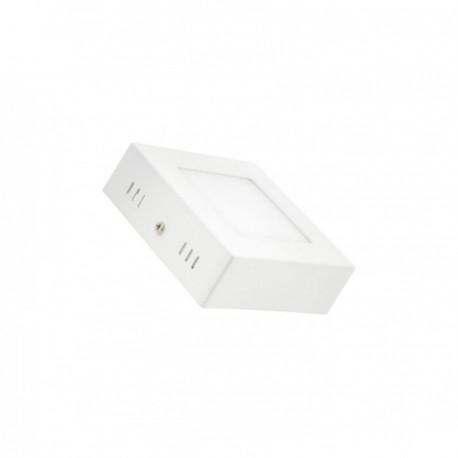 Plafonnier LED Carré 6W blanc