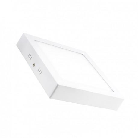 Plafonnier LED Carré 18W blanc