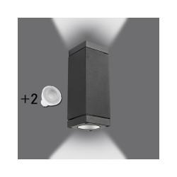 Applique murale LED GU10 double éclairage  2 X 6W extérieure IP54